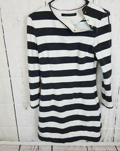 Zara Woman Dress. Striped Black and White Size S